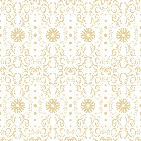 Beautiful background of seamless floral pattern Stock Vector - 12336893