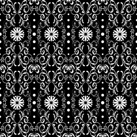 Beautiful background of seamless floral pattern Stock Vector - 12336920