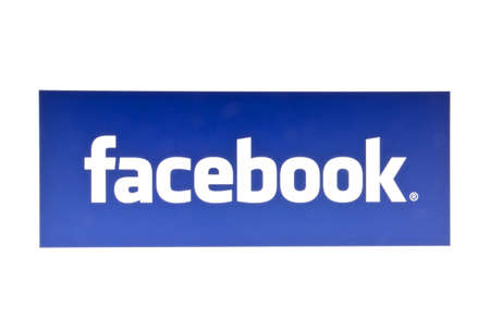 Facebook logo displayed on a computer screen Editorial