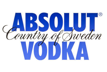 ABSOLUT VODKA logo displayed on a computer screen