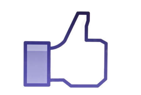 like button: Facebook like button Editorial