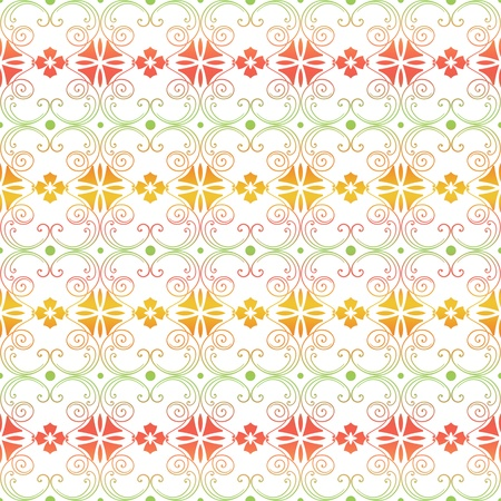 Beautiful background of seamless floral pattern Stock Vector - 12489467