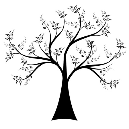 Art tree isolated on white background Vector