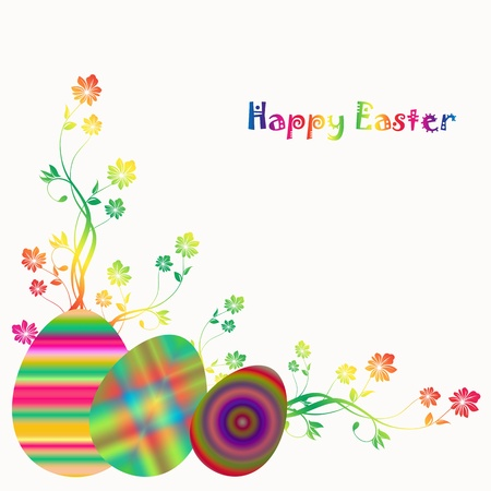 Beautiful background of happy easter Vector