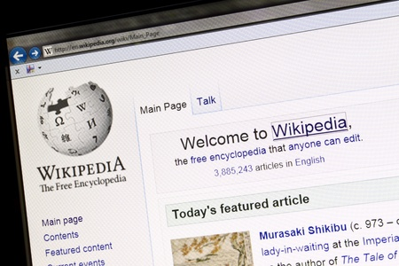 wikipedia website displayed on computer screen Stock Photo - 12444609