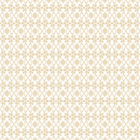 Beautiful background of seamless floral patten Vector