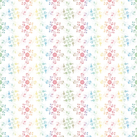 Beautiful background of seamless floral pattern Stock Vector - 12860599