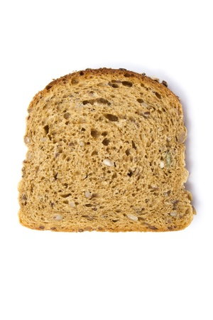 Black bread isolated on white background  photo