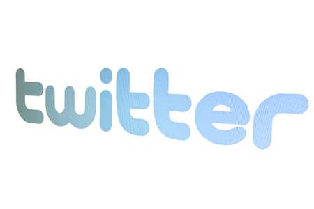 Twitter logo on white background