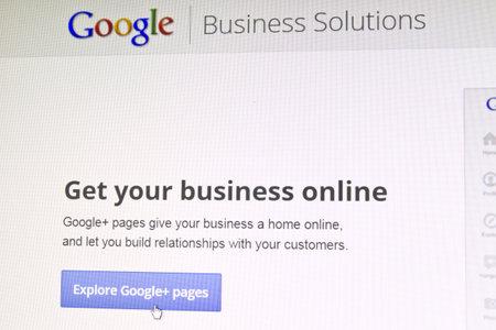 Google website displayed on computer screen Stock Photo - 13460507