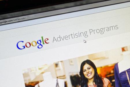 Google website displayed on computer screen 報道画像