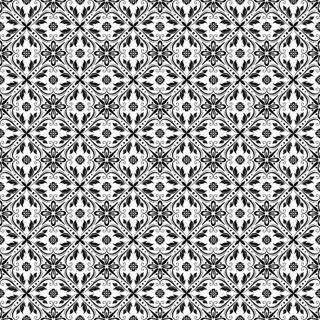 elegance: Beautiful background of seamless floral pattern