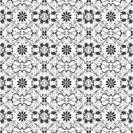 Beautiful background of seamless floral pattern Stock Vector - 13565858