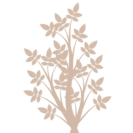 Beautiful art tree silhouette isolated on white background Stock Vector - 13778007