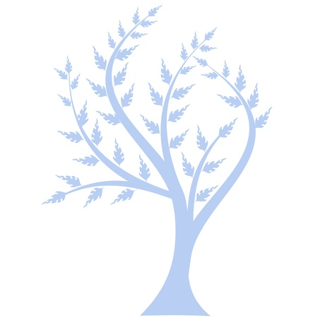 Art tree silhouette isolated on white background Stock Vector - 13813737