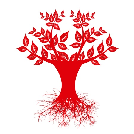 Beautiful art tree isolated on white background Stock Vector - 13813746