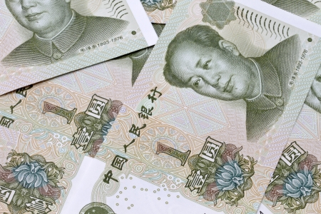 Background of different chinese money closeup  photo