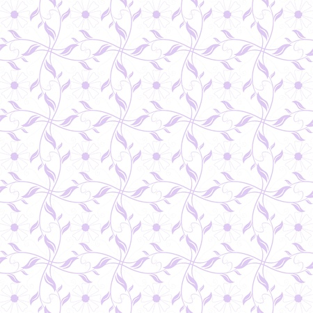 Beautiful background of seamless floral pattern Stock Vector - 14464492
