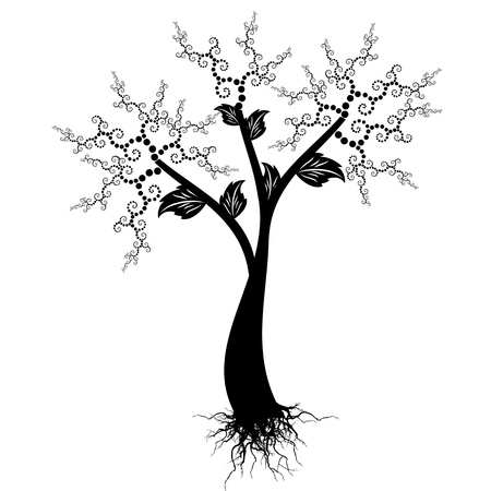 Beautiful art tree isolated on white background Stock Vector - 14464490