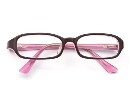 eyeglasses: Beautiful glasses isolated on white background  Stock Photo
