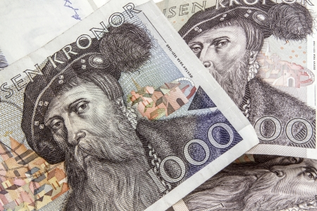 Swedish currency -1000 Kronor closeup photo