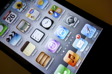 iPhone Icons closeup  Stock Photo - 14998300