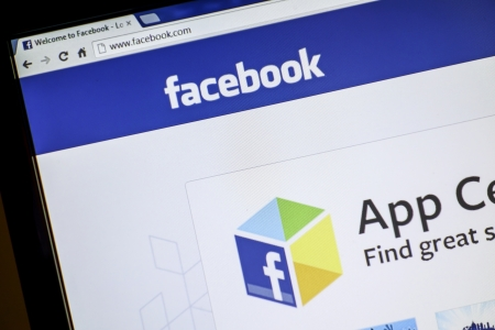 Facebook website display on a computer screen Stock Photo - 14998297