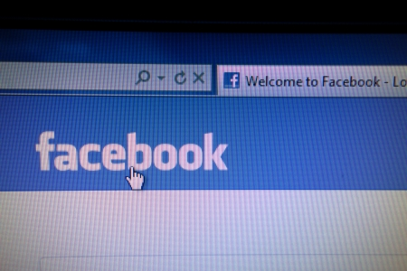 Facebook website displayed on a computer screen                      Stock Photo - 15003696