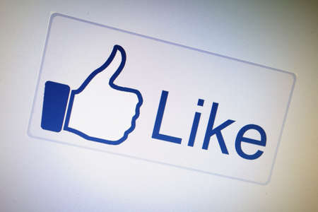 Like button displayed on a computer screen                      Stock Photo - 15003697