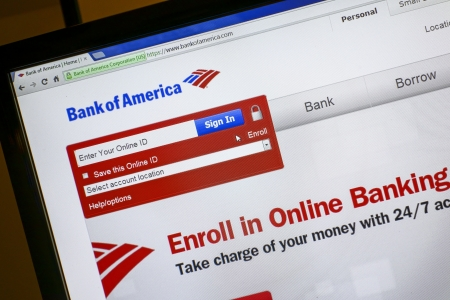 Bank of America website on a computer screen Stock Photo - 15078843