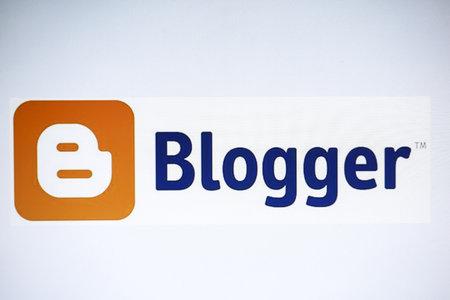 Blogger website display on cmputer screen