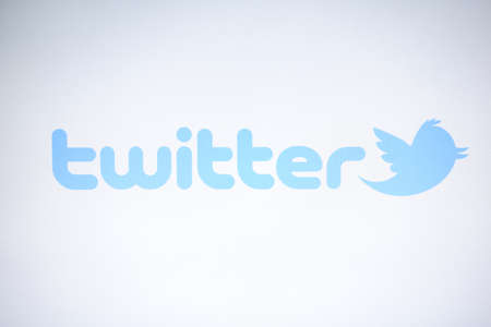 Twitter logo displayed on a computer screen Stock Photo - 15078839