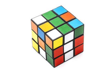 Rubik's Cube isolated on white background Stock Photo - 15078837