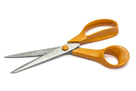 handled scissors isolated on white background  photo