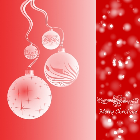 Beautiful Greeting Card of Merry Christmas photo