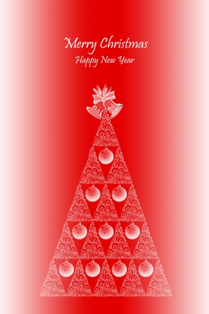 Merry Christmas and Happy Hew Year Background photo