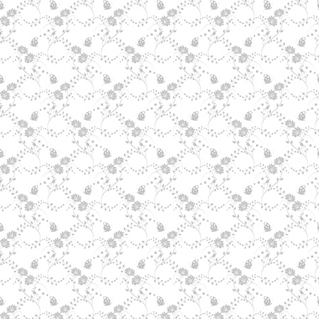 Beautiful background of seamless floral pattern Stock Vector - 15439188