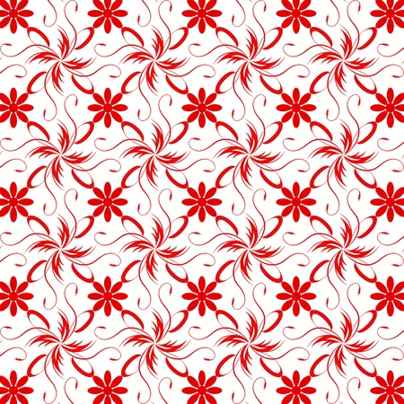 Beautiful background of seamless floral pattern Stock Vector - 15439169
