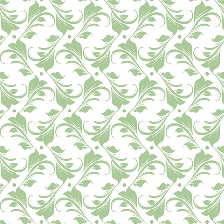 Beautiful background of seamless floral pattern Stock Vector - 15451780