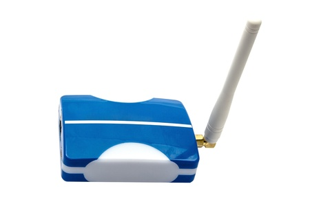 wireless router on white background Stock Photo - 15714742