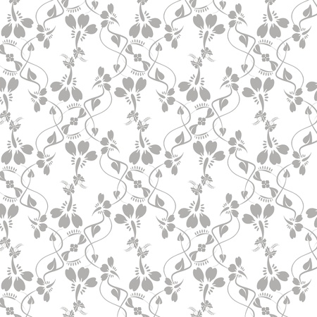 Beautiful background of seamless floral pattern Stock Vector - 15736026