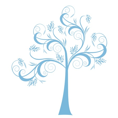 Beautiful art tree isolated on white background Stock Vector - 15814921