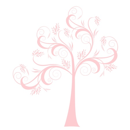 Beautiful art tree isolated on white background Stock Vector - 15814919