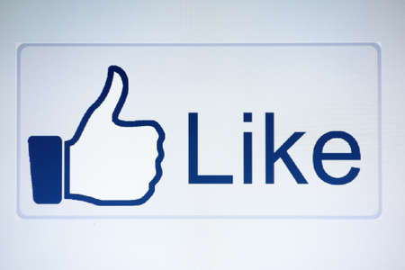 Thumb up hand and  like button Stock Photo - 15838504