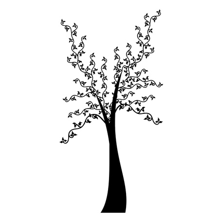 Art tree isolated on white background Stock Vector - 16282763
