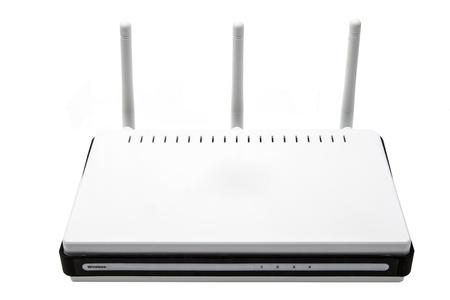 wireless router on white background Stock Photo - 16420899