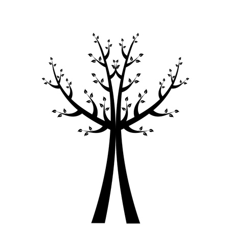 Art tree isolated on white background Stock Vector - 16420873