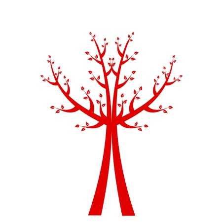 Art tree isolated on white background Stock Vector - 16420877