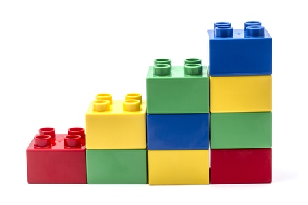Building Blocks Isolated on White Background photo