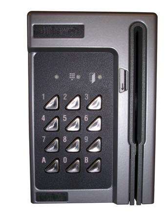 Password lock isolated on white background photo